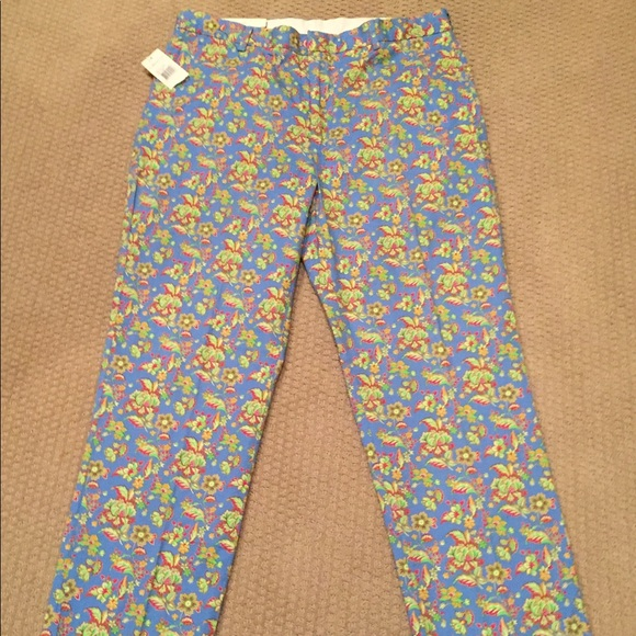 NWT Polo Ralph Lauren Floral Embroidered Pants Dress Casual Men/'s Size 36//34